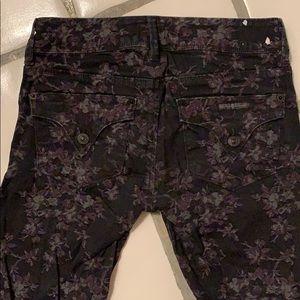 Hudson stretchy black floral  skinny jeans